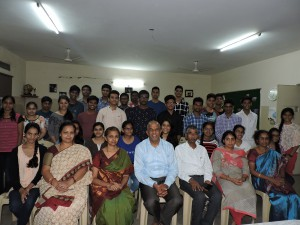Dr. Rameswar Rao. J Chairman, My Home Group Guide & Philosopher in Conversation with Outgoing Class X Students