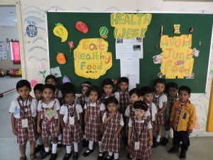 """Health is Wealth"" Kids at Pre-Primary"